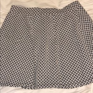 Aeropostale Skirts - Aeropostale white and black skater skirt